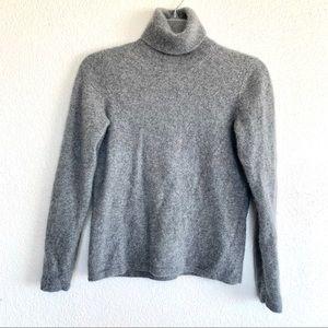 Vintage Cashmere Grey Turtleneck Sweater